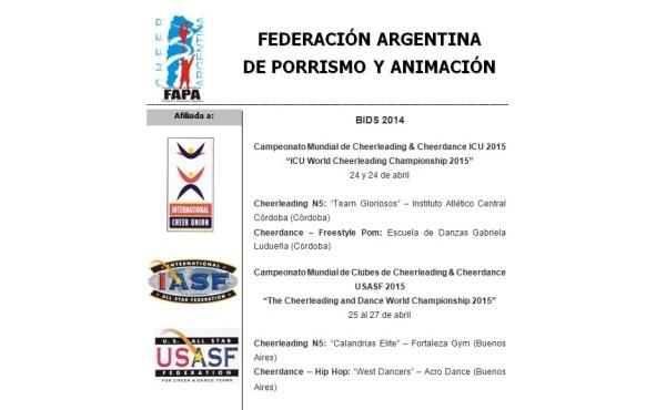 ¡Equipos destacados 2014 a seguir adelante!